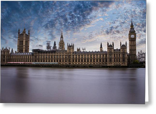 Westminster Greeting Card by Martin Newman
