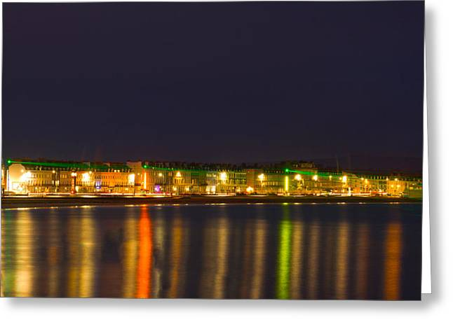 Weymouth Laser Nights Greeting Card
