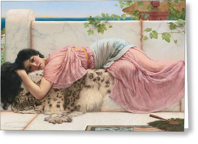 When The Heart Is Young Greeting Card by John William Godward