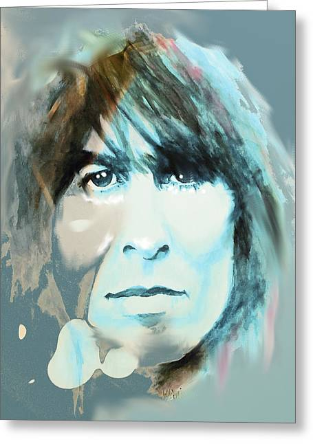 While My Guitar Gently Weeps Greeting Card by William Walts