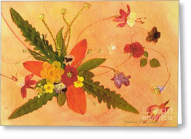 Whirled Away Greeting Card by Kathie McCurdy