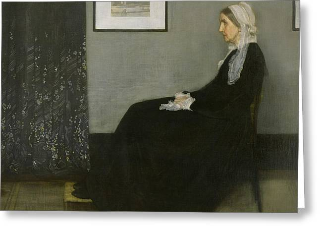 Whistler's Mother Greeting Card by James Abbott McNeill Whistler