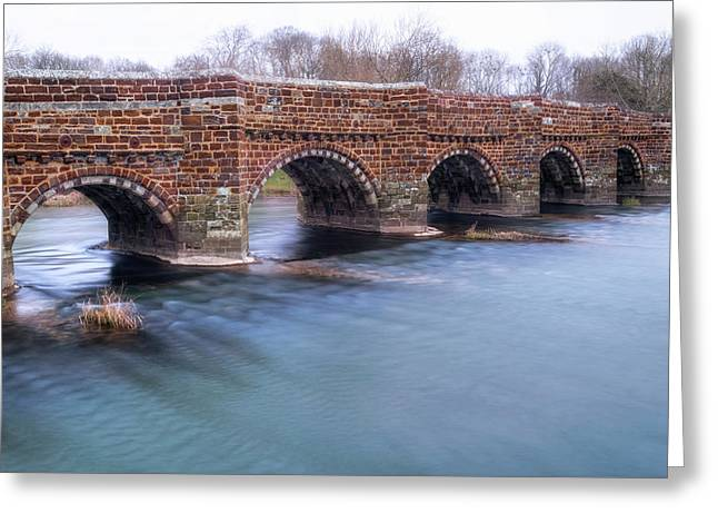 White Mill Bridge - England Greeting Card by Joana Kruse