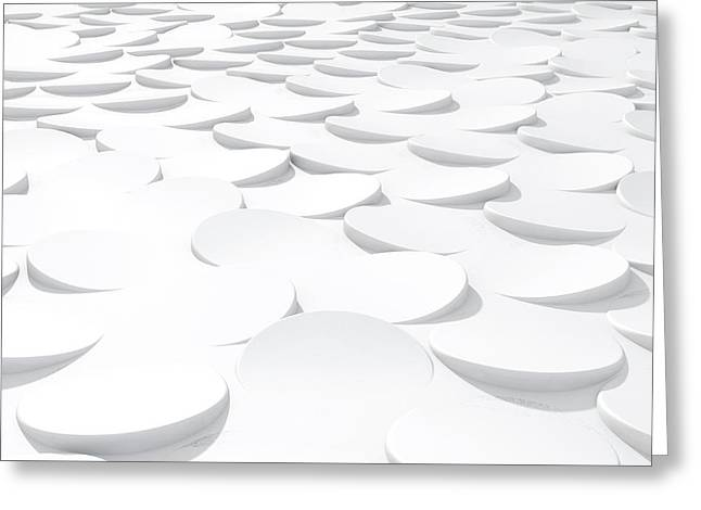 White On White Scale Peels Greeting Card by Allan Swart