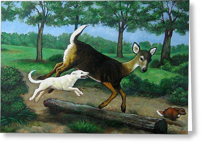 White Tails Greeting Card