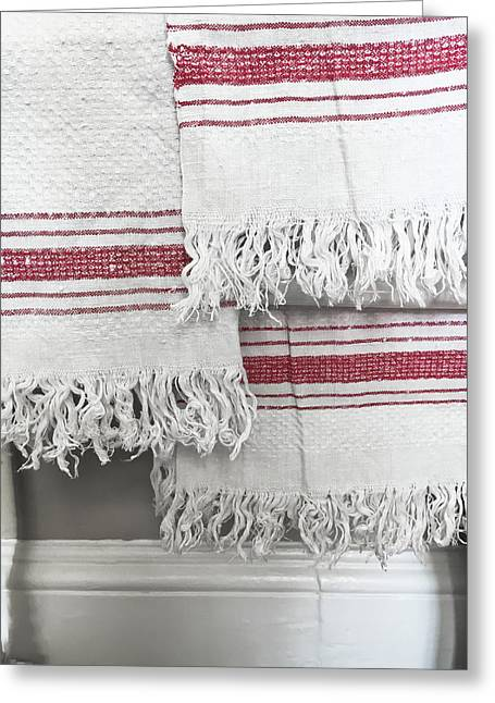 White Towels Greeting Card