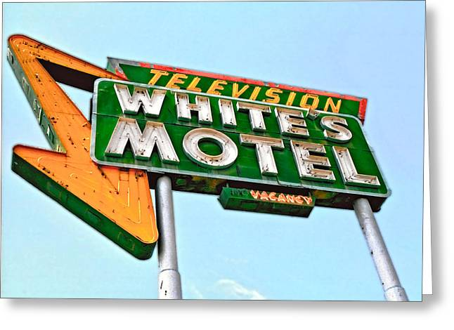 White's Motel Greeting Card