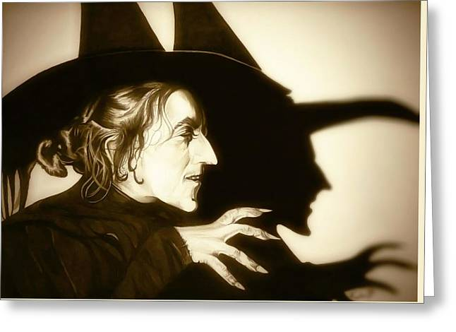 Wicked Witch Of The West Greeting Card by Fred Larucci