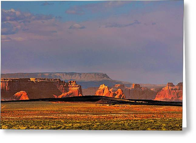 Travel Arizona Greeting Cards - Wide-open spaces - Page Arizona Greeting Card by Christine Till