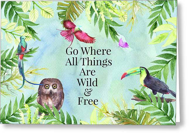 Greeting Card featuring the digital art Wild And Free by Colleen Taylor
