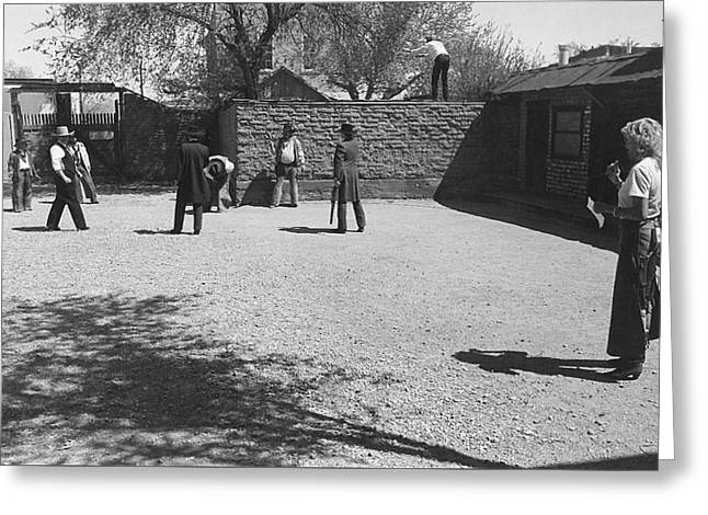 Wild Bunch Re-enacting The O.k. Corral Gunfight Tombstone Arizona 1983-2015  Greeting Card