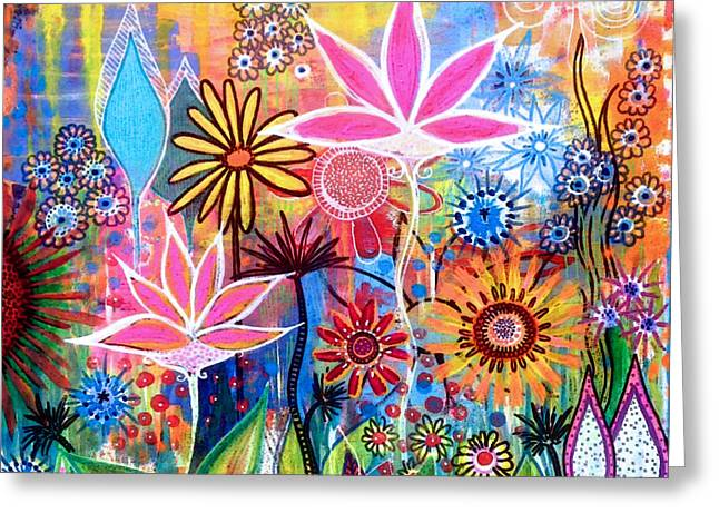 Wild Garden Greeting Card by Robin Mead