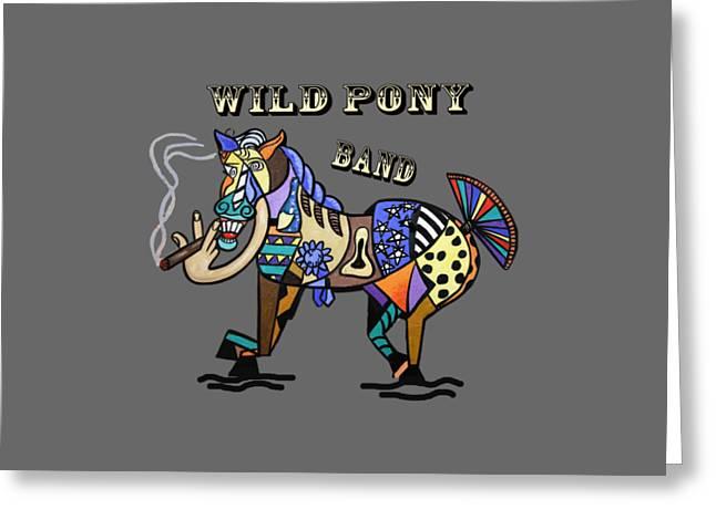 Wild Pony Greeting Card by Anthony Falbo