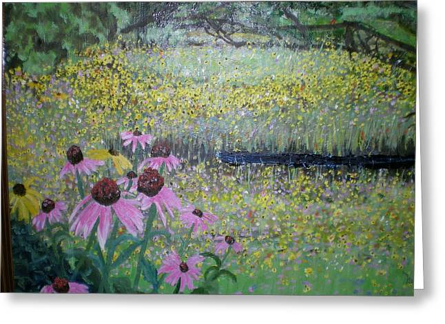 Wild Spring Flowers Greeting Card by Hal Newhouser