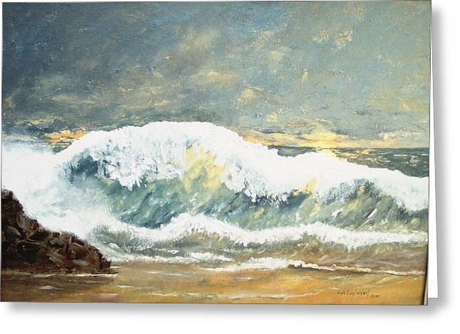 Wild Wave Greeting Card