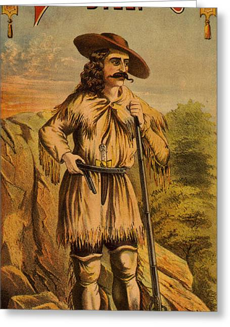 William Buffalo Bill Cody, American Greeting Card by Science Source