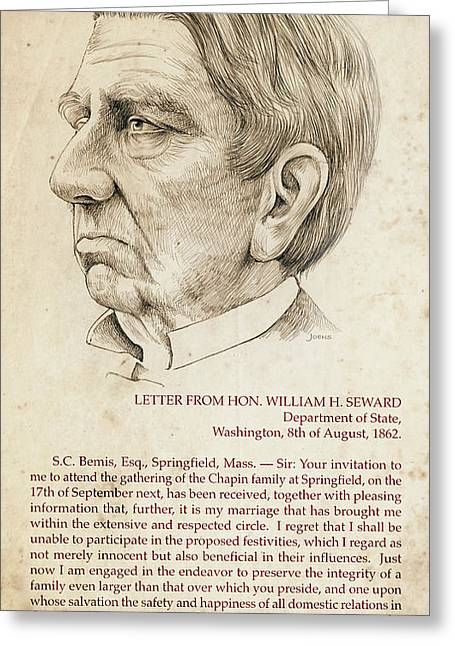 William Seward Greeting Card by Greg Joens