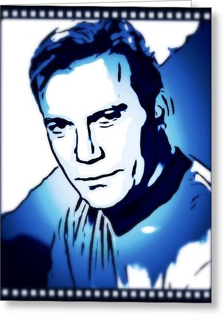 William Shatner As Captain Kirk Greeting Card by John Springfield
