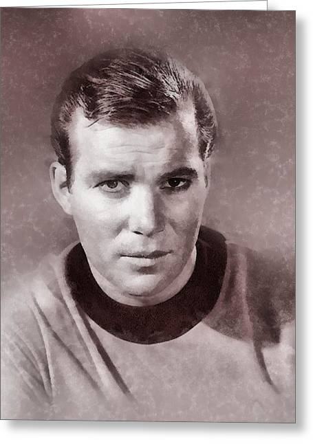 William Shatner By John Springfield Greeting Card by John Springfield