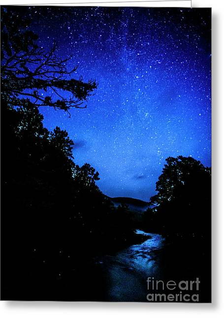 Williams River Under The Stars Greeting Card by Thomas R Fletcher