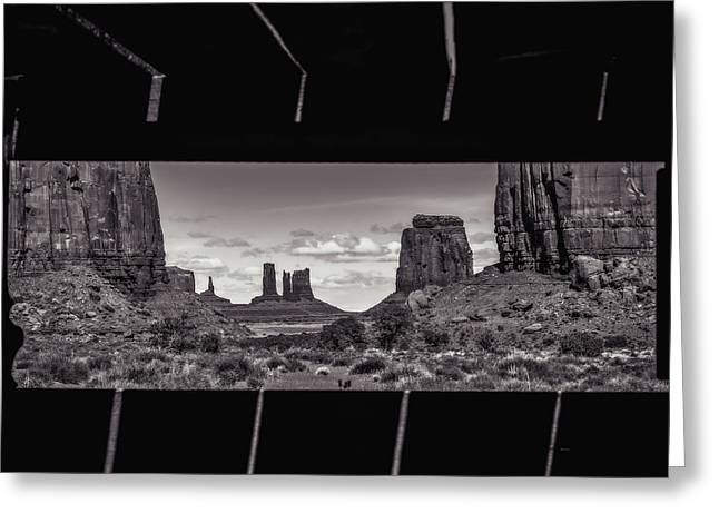 Greeting Card featuring the photograph Window Into Monument Valley by Eduard Moldoveanu