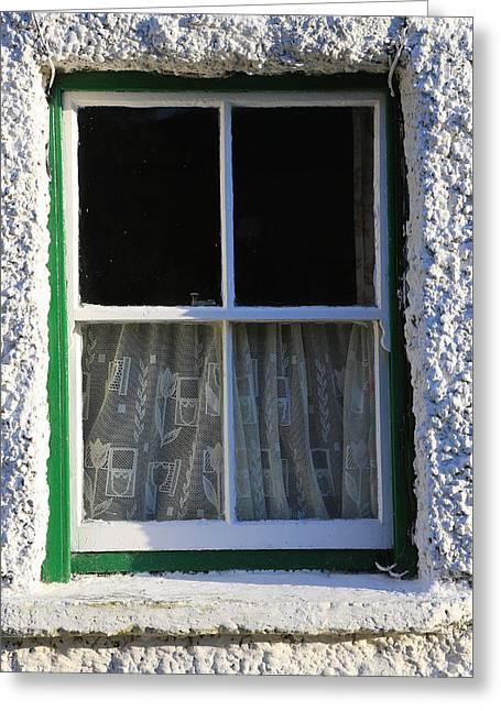Window Greeting Card by Michael Diggin