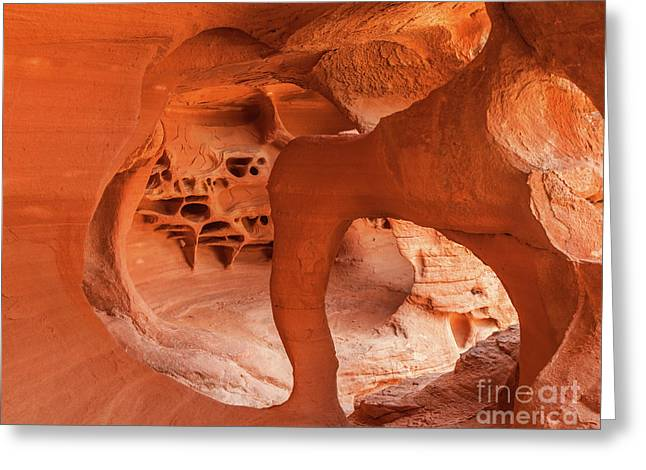 Windstone Arch, Fire Cave, Valley Of Fire, Nevada Greeting Card