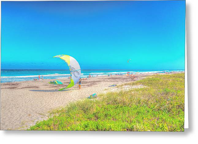 Windsurf Beach Greeting Card