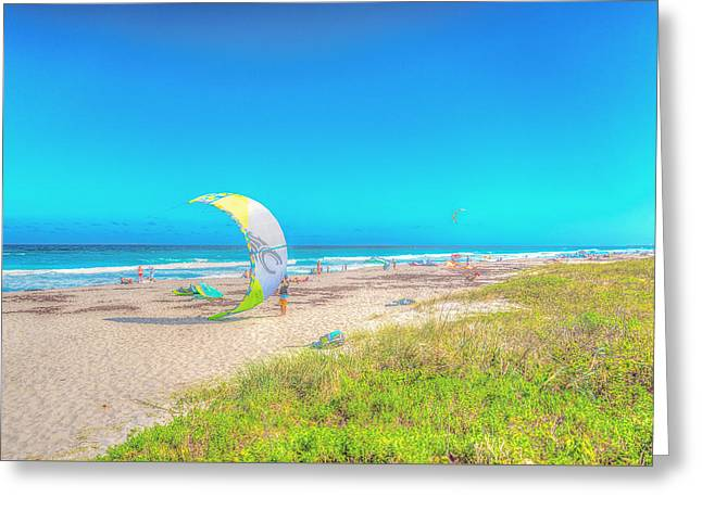 Windsurf Beach Greeting Card