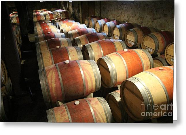 Wine Barrels Greeting Card by Anthony Jones