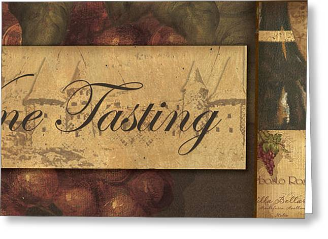 Wine Tasting Collage  Greeting Card