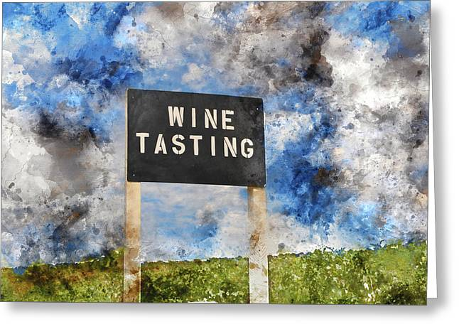 Wine Tasting Sign Greeting Card