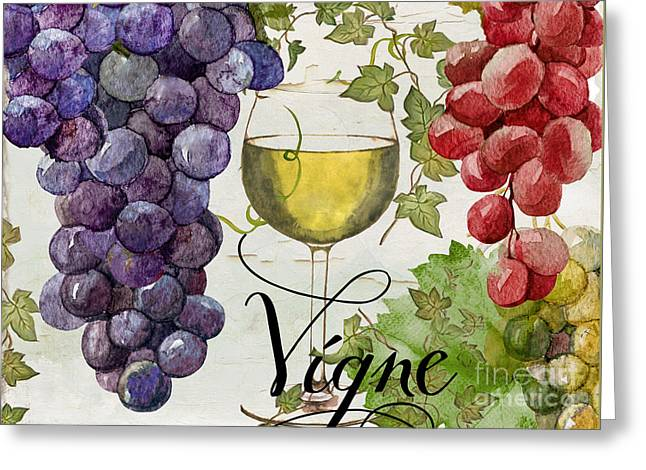 Wines Of Paris II Greeting Card by Mindy Sommers