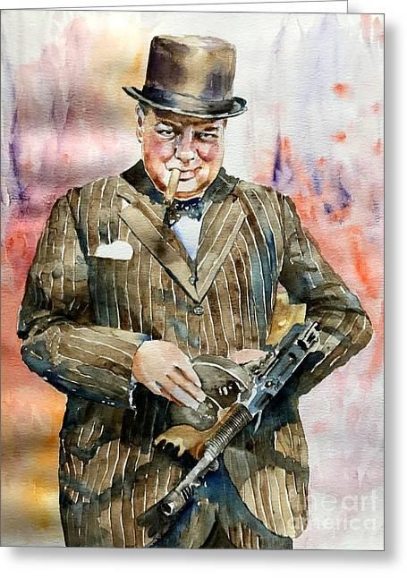 Winston Churchill Portrait Greeting Card