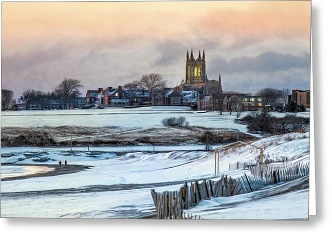 Greeting Card featuring the photograph Winter Dusk by Robin-lee Vieira