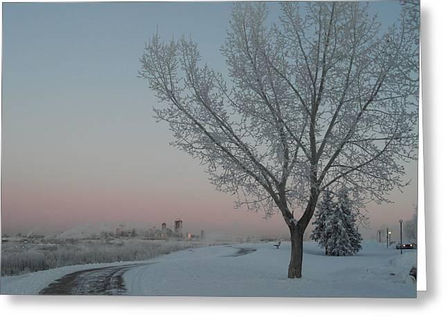 Mark Lehar Greeting Cards - Winter Guard Greeting Card by Mark Lehar