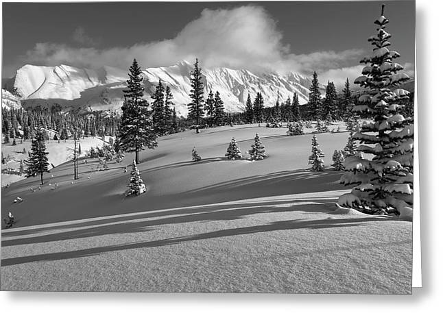 Winter In Banff Greeting Card