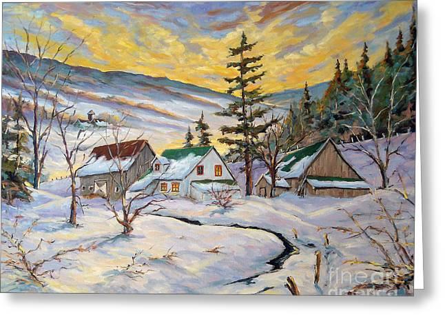 Winter Lights Greeting Card by Richard T Pranke