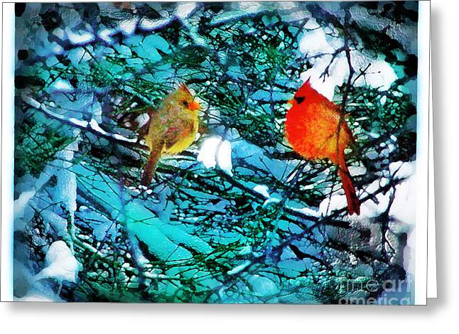 Winter Love Greeting Card by Gina Signore