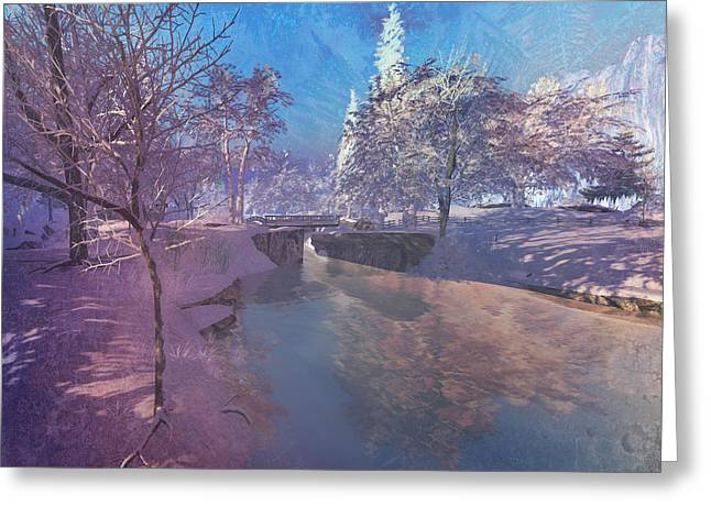 Winter Morning At South Farthing Greeting Card by Kylie Sabra