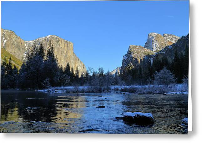 Winter Of Yosemite Greeting Card by Hyuntae Kim