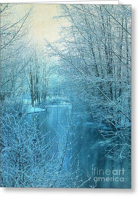 Winter River Greeting Card by Svetlana Sewell