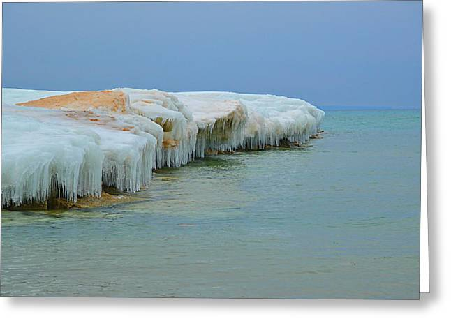 Greeting Card featuring the photograph Winter Sculpting by SimplyCMB