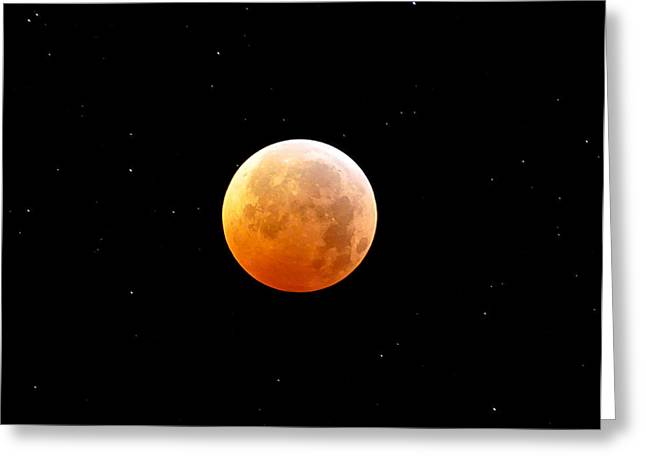 Winter Solstice Lunar Eclipse 2010 Greeting Card by Kevin Munro