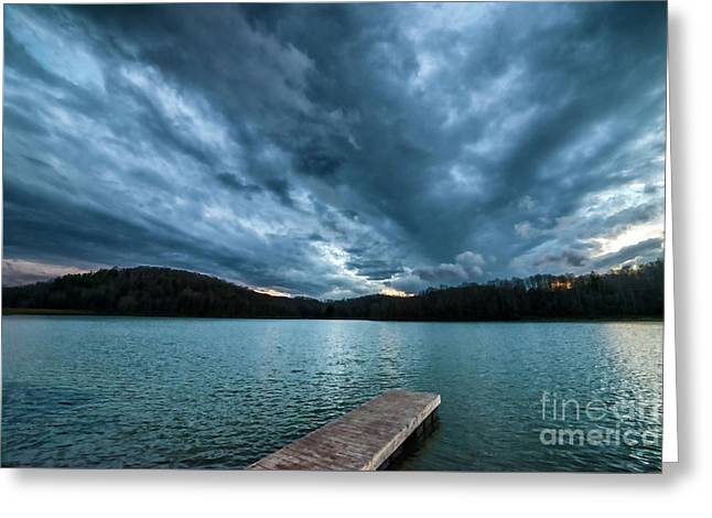 Greeting Card featuring the photograph Winter Storm Clouds by Thomas R Fletcher