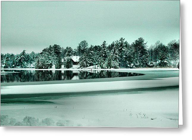 Winter Stream Greeting Card by Rick Couper