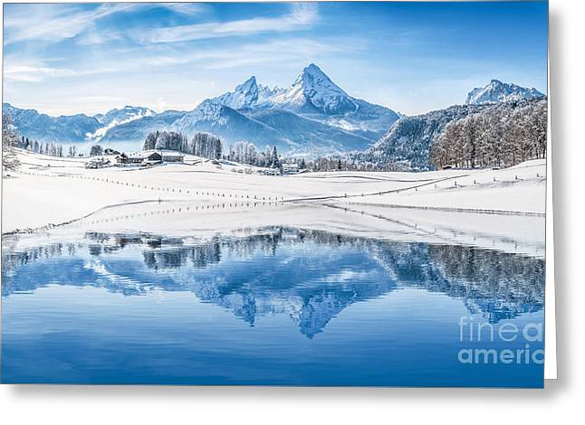 Winter Wonderland In The Alps Greeting Card