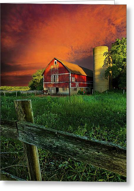 Twilight Greeting Cards - Wisconsin Life Greeting Card by Phil Koch