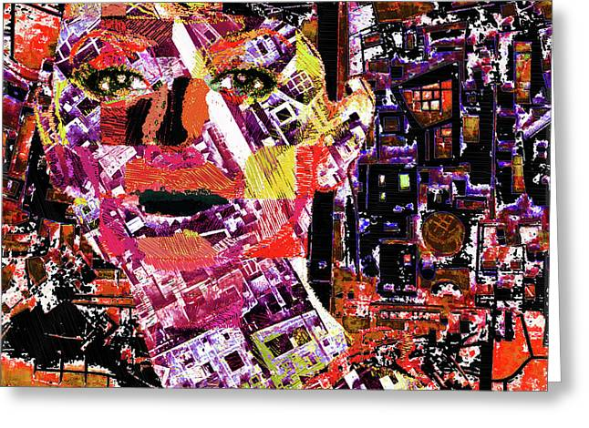 Woman Of Color Greeting Card by Tony Rubino