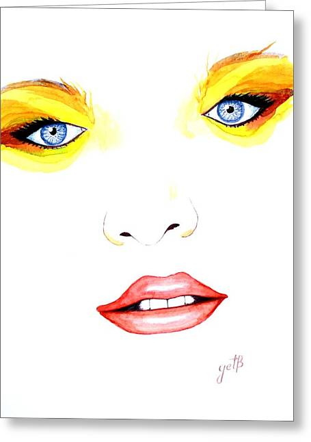 Woman Scent Watercolor Painting Greeting Card